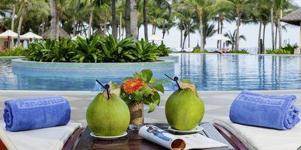 Poolen på Pandanus Resort, Phan Thiet i Vietnam.