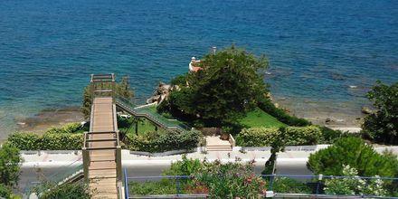 Udsigt fra Hotel Panorama på Kreta, Grækenland.