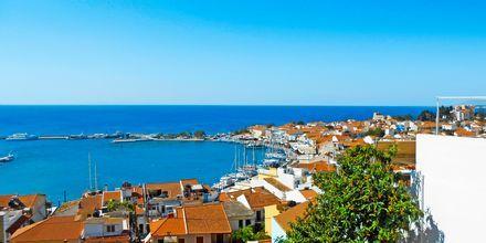 Udsigt fra Hotel Panorama på Samos, Grækenland