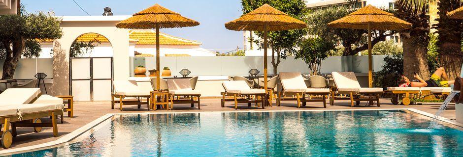 Hotel Parasol i Karpathos by på Karpathos, Grækenland.