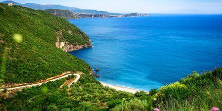 Lichnos-stranden på Parga, Grækenland
