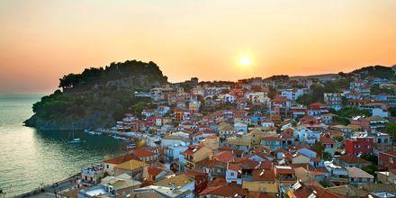 Parga by på Parga, Grækenland.