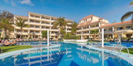 Poolområde på Hotel Parque la Paz på Tenerife, De Kanariske Øer, Spanien.