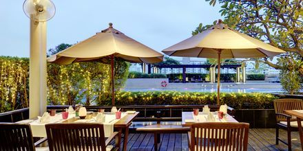 Vista Bar Terrace på Hotel Pathumwan Princess i Bangkok, Thailand.