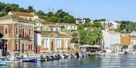 Hovedbyen på Gaios på Paxos