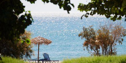 Stranden ved Hotel Pelagos Beach i Votsalakia på Samos, Grækenland.