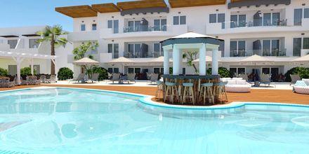 Skitsetegning på Hotel Pelopas i Tigaki på Kos, Grækenland.