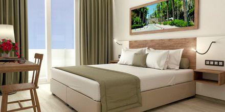Skitsetegning af 1-værelses lejlighed på Hotel Pelopas i Tigaki på Kos, Grækenland.