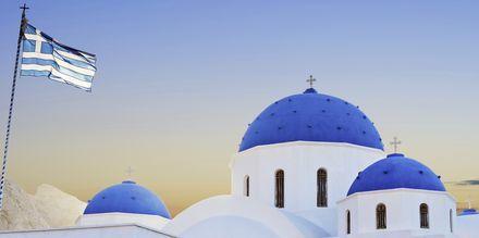 Kirke i Perissa/Perivolos på Santorini