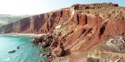 Vulkankrater i Perissa/Perivolos på Santorini