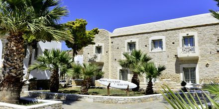 Indgang på Hotel Petros Place på Ios, Grækenland.