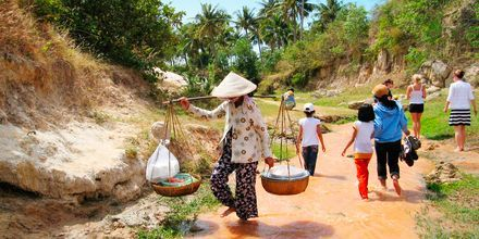 Fairy stream, Phan Thiet i Vietnam.