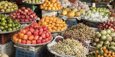 Frugtmarked på Phu Quoc i Vietnam.