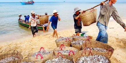 Fiskere på Phu Quoc i Vietnam.