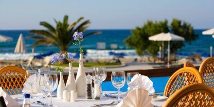 Taverne Gialos på Hotel Pilot Beach på Kreta, Grækenland.