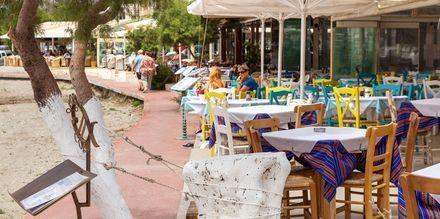 I Plakias er der mange restauranter.
