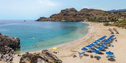 En skøn strand nær Plakias på Kreta, Grækenland.