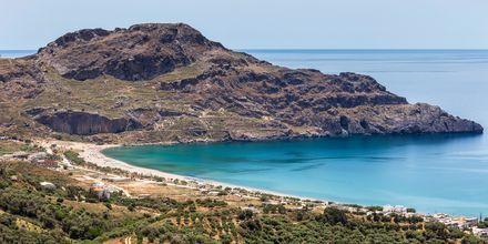Udsigt over Plakias og det smukke hav.