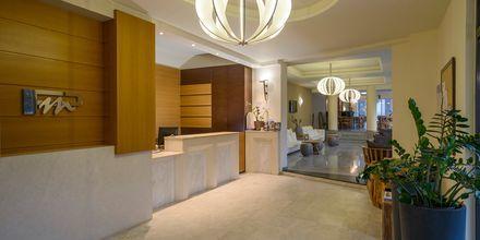 Reception på Hotel Platanias Mare på Kreta, Grækenland.