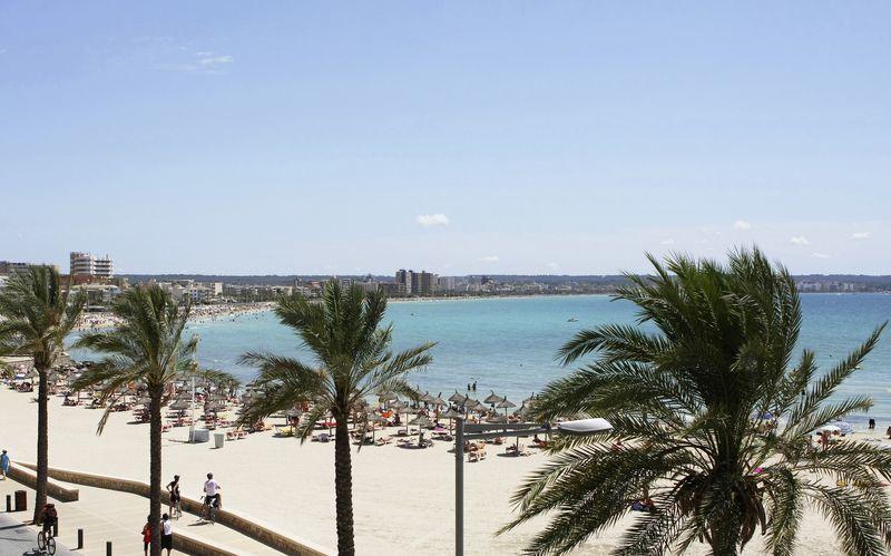 Stranden i Ca'n Pastilla på Mallorca, Spanien.