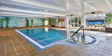 Indendørspool på Playa Esperanza Suites på Mallorca, Spanien.