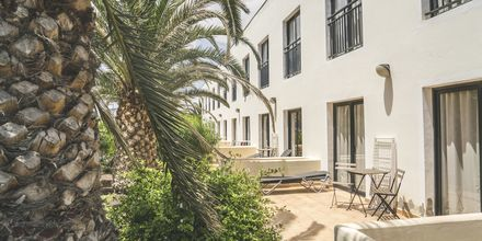 Terrasse på hotel Playitas Annexe, Fuerteventura.