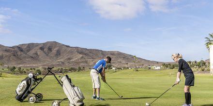 Golf på Playitas på Fuerteventura, De Kanariske Øer.