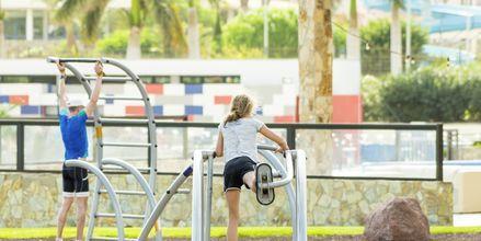 Udendørs træning på Playitas Resort, Fuerteventura.