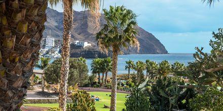 Udsigt fra Playitas Aparthotel, Fuerteventura.