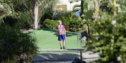 Minigolf på Playitas Resort på Fuerteventura.