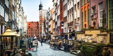 Hyggelige gader i Mariacka i Gdansk, Polen.