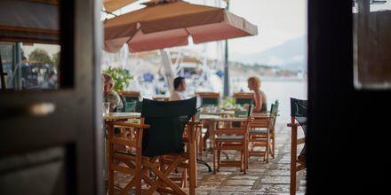 Morgenmadsområdet på Hotel Polixeni på Samos, Grækenland.