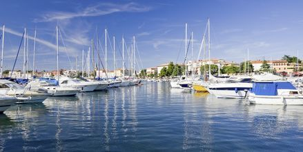 Marinaen på Porec, Kroatien.