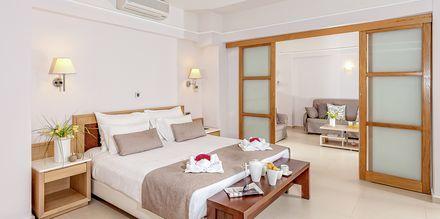 Familie-værelser på Hotel Porto Platanias Beach & Spa på Kreta, Grækenland.