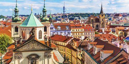 Udsigt over Prags gamle bykerne.