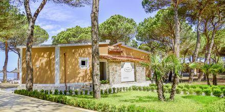 Reception på Prestige Resort, Durres Riviera i Albanien.