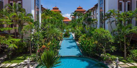 Poolområdet på Hotel Sanur Paradise Plaza i Sanur på Bali.