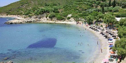 Stranden ved Princessa Riviera Resort på Samos, Grækenland