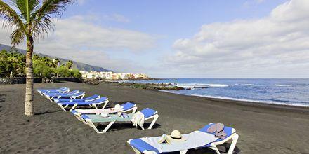 Playa Jardin i Puerto de la Cruz på Tenerife, De Kanariske Øer, Spanien.