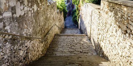 Stræder i Pula, Kroatien.