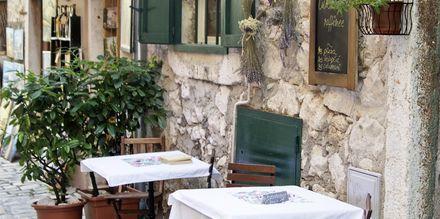 Restaurant i Pula, Kroatien.