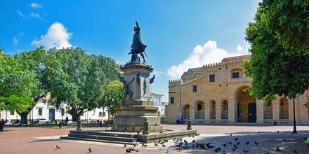 Statue til ære for Christoffer Columbus, der opdagede Den Dominikanske Republik.