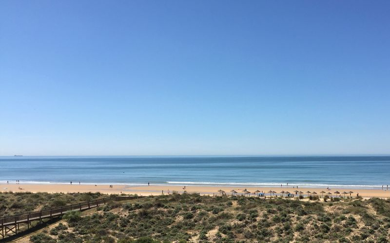 Stranden ved Punta Umbria, Spanien