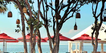 Strandrestauranten på Hotel Puri Santrian i Sanur, Bali.