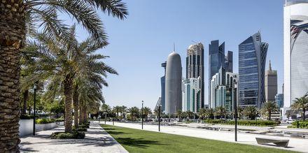 Strandpromenade i Doha, Qatar.