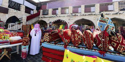 Shop lokale varer på markedet Souq Waqif i Doha, Qatar.