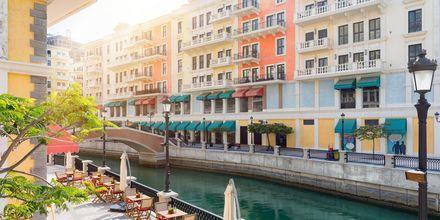 Kanal på øen The Pearl i Doha, Qatar.