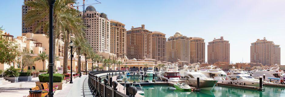 The Pearl er en kunstig ø i Doha, Qatar.