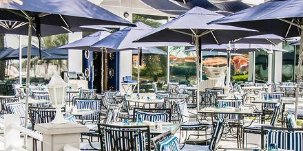 Restaurant på Hotel Radisson Blu Hotel & Resort Abu Dhabi Corniche, Abu Dhabi.