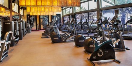 Fitnessrum på Hotel Radisson Blu Hotel & Resort Abu Dhabi Corniche, Abu Dhabi.